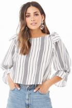 Forever21 Knotted Striped Top