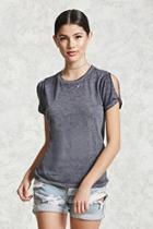 Forever21 Heathered Cutout Tee