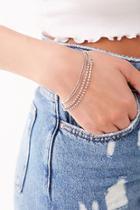 Forever21 Layered Rhinestone Bracelet