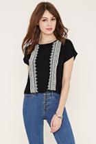 Forever21 Women's  Embroidered Top