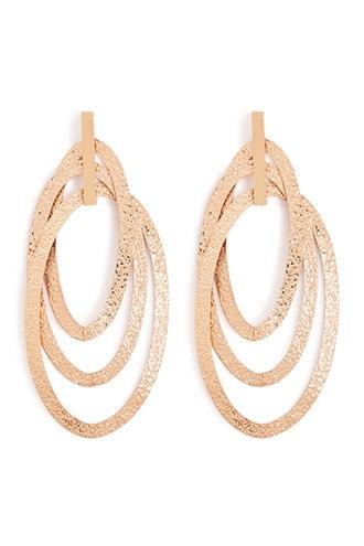 Forever21 Oval Drop Hoop Earrings