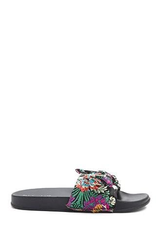 Forever21 Embroidered Bow Sandals