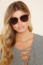 Forever21 Gold & Brown Oversized Square Sunglasses