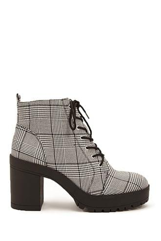 Forever21 Glen Plaid Booties