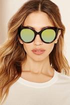 Forever21 Cat Eye Mirrored Sunglasses
