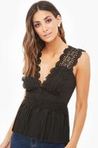 Forever21 Crochet Pleated Top