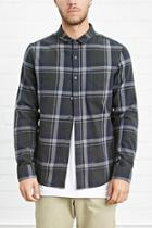 21 Men Men's  Classic Plaid Flannel Shirt