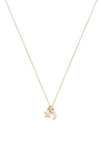 Forever21 Star & Crescent Charm Necklace