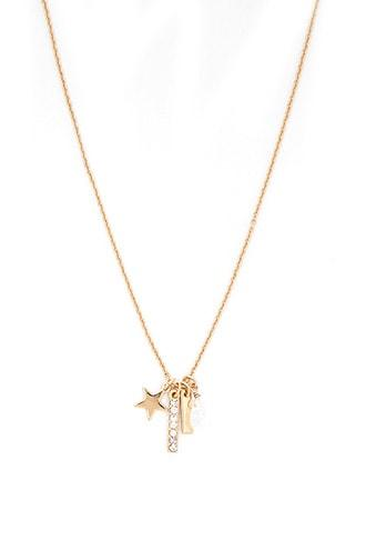 Forever21 Star & Bar Charm Chain Necklace
