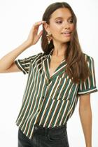 Forever21 Sheeny Striped Shirt