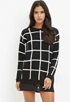 Forever21 Grid-patterned Sweater