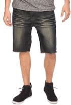 21 Men Frayed Denim Shorts