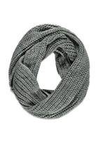 Forever21 Chunky Ribbed Knit Scarf (black)