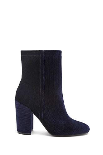 Forever21 Ribbed Velvet Boots