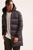 Forever21 Hooded Nylon Puffer Coat