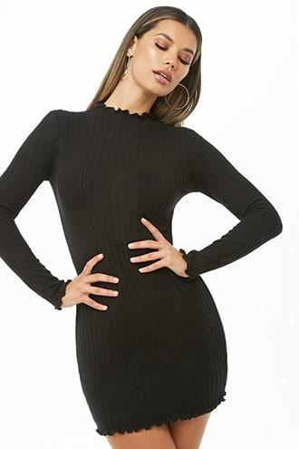 Forever21 Ribbed Marled Mini Dress