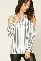 Love21 Women's  Contemporary Stripe Shirt