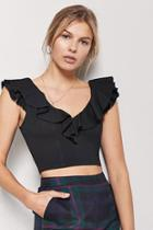 Forever21 Ruffle Flounce Crop Top