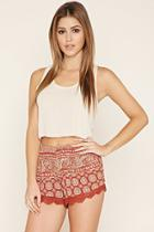 Forever21 Women's  Medallion Print Shorts