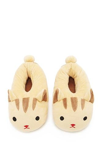 Forever21 Women's  Cat Slippers