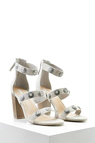 Forever21 Faux Suede Etched Star Heels