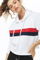 Forever21 Oversized Striped Hoodie