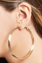 Forever21 Layered Drop Hoop Earrings