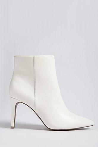 Forever21 Faux Leather Stiletto Ankle Boots (wide)
