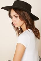 Forever21 Women's  Wide-brim Straw Boater Hat