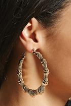 Forever21 Bamboo-inspired Hoop Earrings