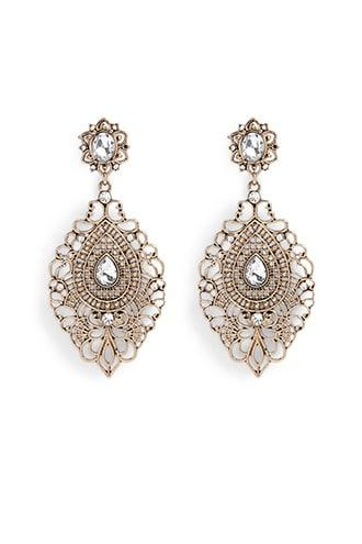 Forever21 Ornate Wire Drop Earrings