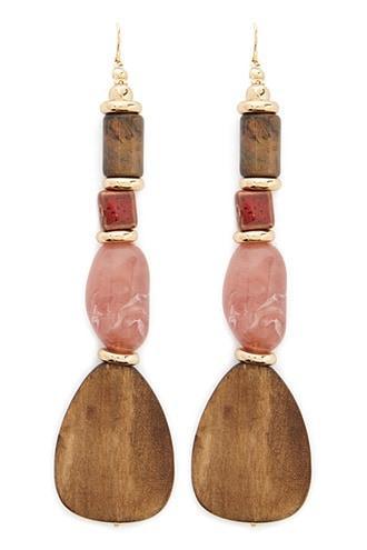 Forever21 Tiered Beaded Drop Earrings