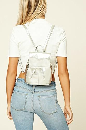 Forever21 Mini Faux Leather Backpack