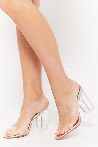 Forever21 Translucent Slide Sandals