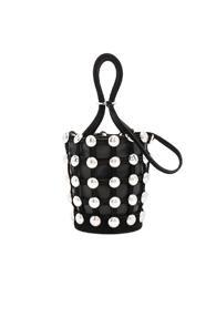 Alexander Wang Roxy Dome Stud Mini Bucket Bag In Black
