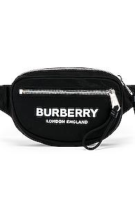 Burberry Cannon Printed Bum Bag In Black