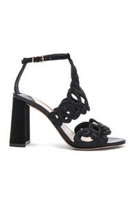 Sophia Webster Embroidered Albany Mid Sandals In Black
