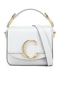 Chloe C Mini Box Bag In Gray