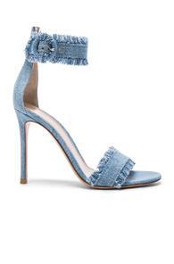 Gianvito Rossi Denim Lola Heels In Blue