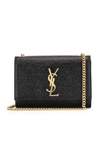 Saint Laurent Small Kate Monogramme Chain Bag In Black