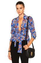 Dodo Bar Or Lennon Top In Abstract,blue,red