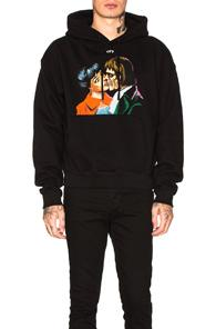 Off-white Kiss Over Hoodie In Black