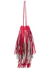 Calvin Klein 205w39nyc Short Fringe Bucket Bag In Red