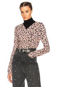 Isabel Marant Miston Top In Black,floral