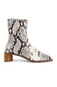 Acne Studios Bertine Snake Boots In Animal Print,black,white