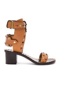 Isabel Marant Leather Jaeryn Sandals In Neutrals