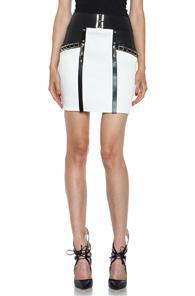Anthony Vaccarello Skirt In White,black