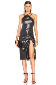 Helmut Lang X Shayne Oliver Pulled Slip Dress In Metallics
