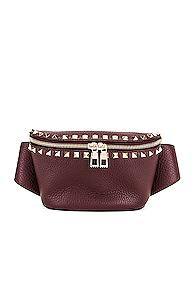 Valentino Rockstud Belt Bag In Purple