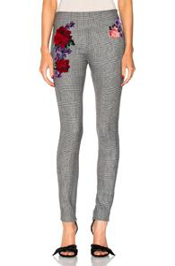 La Perla Prince Of Wales Legging Pant In Gray,checkered & Plaid,floral